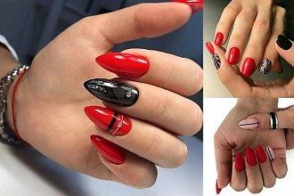 Czerwony manicure - 16 najpiękniejszych pomysłów z sieci
