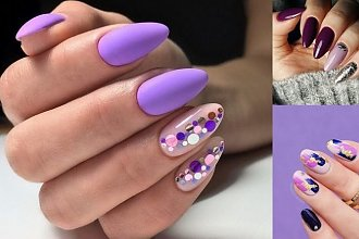 Fioletowy manicure - 15 dziewczęcych zdobień, które robią wrażenie
