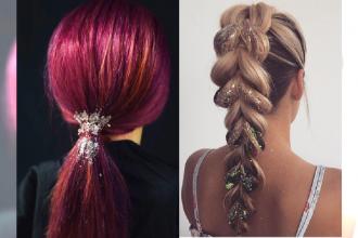 Nie macie pomysłu na fryzurę na Sylwestra? Glitter hair to najnowszy trend!