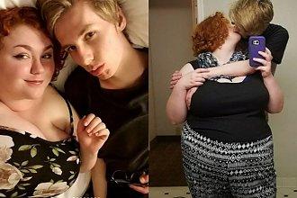 """Dziewczyna okrutnie przezywana """"wielorybem"""" z powodu swojej wagi znalazła wielką miłość! Jej chłopak waży ledwie połowę tego co ona"""