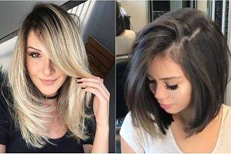 Fryzury średnie 2020. Wypróbuj cieniowane włosy z grzywką i najmodniejsze wersje boba