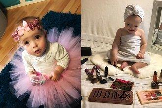 """Modeluje włosy i wygładza cerę 11-miesięcznej córce, żeby wyglądała bardziej profesjonalnie. Dziewczynka """"sprzedaje produkty""""..."""