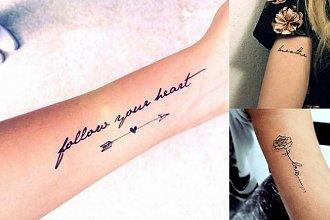 Modne tatuaże z napisem - galeria oryginalnych pomysłów