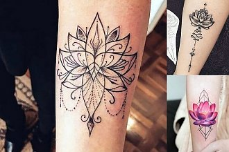 Kwiat lotosu - galeria hipnotyzujących tatuaży dla kobiet