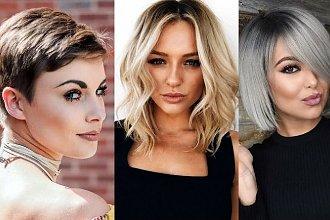 Pomysłowe fryzury dla okrągłej twarzy - 18 cięć różnej długości