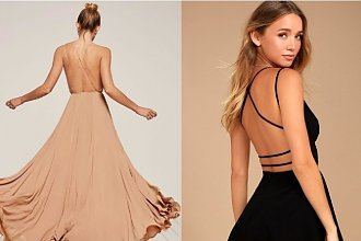 Sukienka z odkrytymi plecami - komu pasuje dekolt na plecach i jak go nosić?