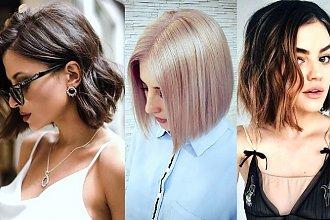 Włosy w pół szyi – galeria kobiecych trendów na rok 2019