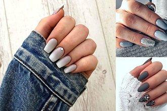 Szary manicure - galeria nowoczesnych i dziewczęcych zdobień