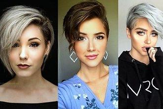 Krótkie fryzury z grzywką na bok - wiosenna galeria trendów