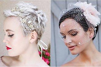 Krótkie fryzury ślubne 2019 - eleganckie fryzury pixie dla panny młodej