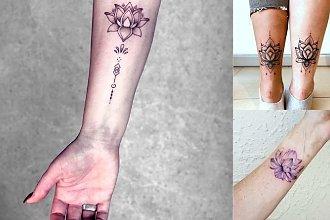 Kwiat lotosu - 18 kobiecych i subtelnych tatuaży
