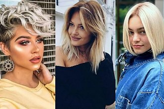 Pomysłowe fryzury dla okrągłej twarzy - top 30 cięć różnej długości