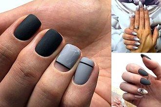 Szary manicure - 20 eleganckich i nowoczesnych stylizacji