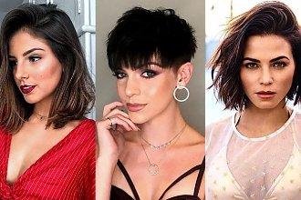 Krótkie i półkrótkie fryzury - galeria modnych cięć dla brunetek i szatynek