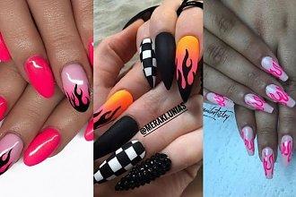 Manicure 2019: Fire nails. Manicure z ogniem w roli głównej to hit na wiosnę 2019!
