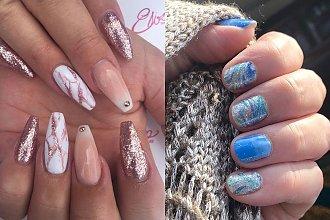 Brokatowe paznokcie - błyszczący manicure w  19 wydaniach