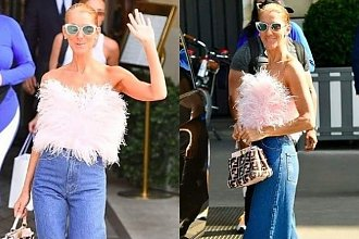 Czy tak teraz będziemy nosić spodnie? Celine Dion w Paryżu zaniepokoiła nas tą stylizacją!