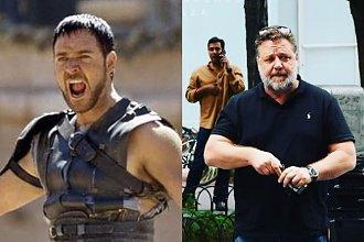 """Gladiator z brzuszkiem? Russell Crowe po 50-tce wygląda jak """"70-letni dziadek""""!"""