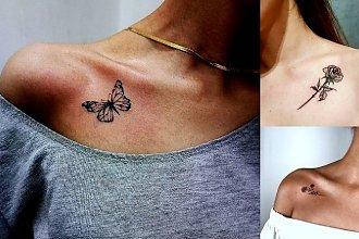 Tatuaż na obojczyk - 25 ciekawych i dziewczęcych wzorów