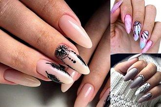 Manicure z piórkiem - 20 oryginalnych i kobiecych zdobień