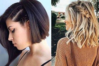 Modne fryzury z warkoczem - włosy krótkie i półkrótkie