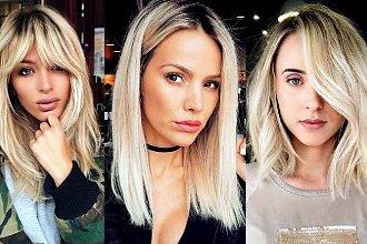 Półdługie fryzury dla blondynek - galeria stylowych cięć