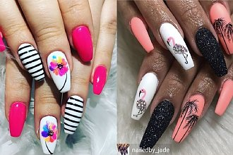 Letni manicure w 30 odsłonach - krótkie i długie paznokcie