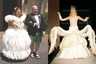 Najdziwniejsze ślubne kreacje. Jak można coś takiego założyć? Nasz hit to numer 8!