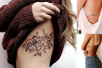 Tatuaż na żebrach - galeria pięknych wzorów, które skradną Ci serce