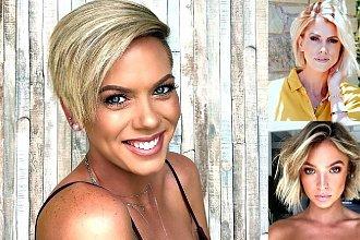 Krótkie i półkrótkie fryzury dla blondynek - galeria trendów