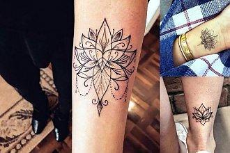 Kwiat lotosu - galeria hipnotyzujących tatuaży
