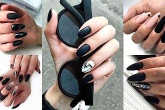 Czarny manicure - galeria stylowych i eleganckich zdobień
