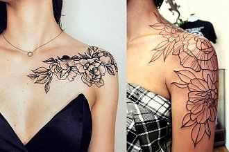 Najpiękniejsze propozycje na tatuaż w okolicy ramienia - galeria dziewczęcych wzorów