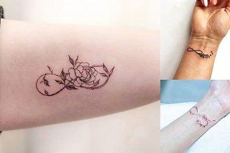 Tatuaże z symbolem nieskończoności - galeria kobiecych wzorów