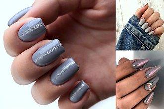 Szary manicure - 30 najpiękniejszych stylizacji ze świata manicure