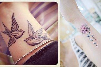 Tatuaż na nadgarstek - galeria modnych, kobiecych wzorów