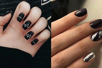 Czarne paznokcie - mroczny manicure na jesienną okazję [GALERIA]