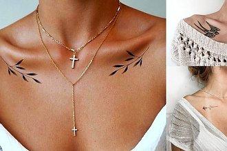 Tatuaż na obojczyk - galeria fantastycznych projektów