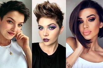 Modne krótkie fryzury dla brunetek i szatynek - galeria jesiennych trendów