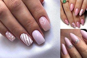 Różowy manicure - galeria pięknych i modnych zdobień