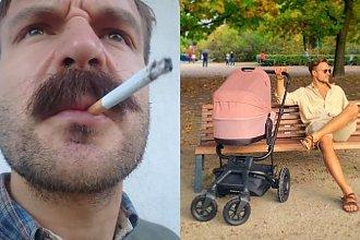 Piotr Stramowski pali przy dziecku! Internauci oburzeni: Słabe. Nie pali się przy dzieciach