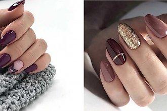 Ciemne paznokcie - prawie 20 inspiracji na ciemny manicure [GALERIA]