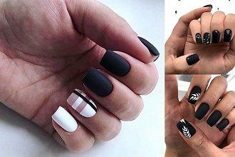 Czarno-biały manicure - 21 nowoczesnych odsłon