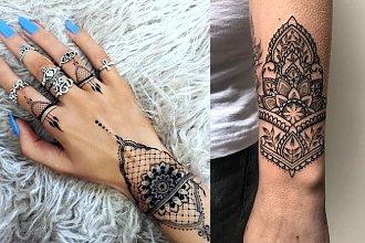 Tatuaż mandala cuff - galeria najmodniejszych wzorów na rękę