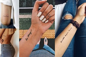 Tatuaże napisy - 20 ślicznych wzorów, które robią wrażenie