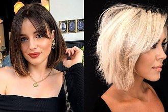 Włosy w pół szyi – galeria kobiecych trendów na jesień 2019