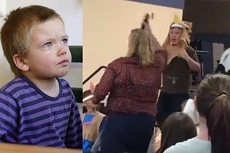 Mama przyszła obejrzeć szkolny występ. Gdy przyszła kolej jej synka, nauczycielka wyrwała mu mikrofon i upokorzyła go (WIDEO)