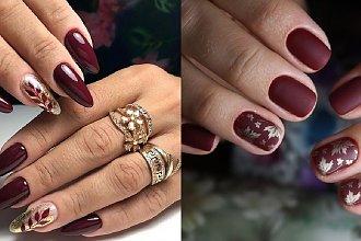 Bordowe paznokcie - 20 inspiracji na manicure w kolorze wina [GALERIA]