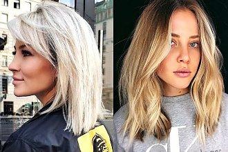Półdługie fryzury dla blondynek - katalog najpiękniejszych cięć