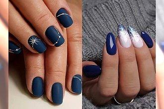 Granatowe paznokcie w (nie tylko) świątecznym wydaniu [GALERIA]